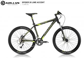 Kellys SPIDER 20 lime accent 2014 vel. 19.5""